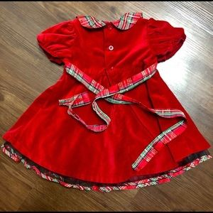 Bonnie Baby Christmas Holiday Dress 24 month
